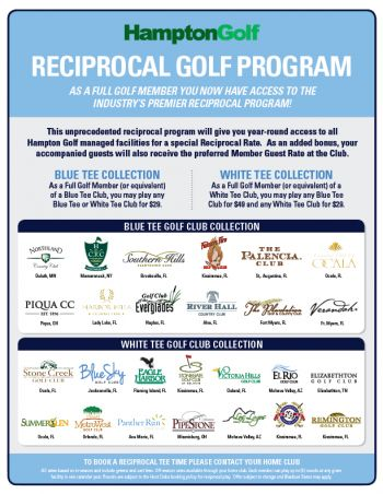 Hampton Golf Clubs — The Best Reciprocal Golf Program Around